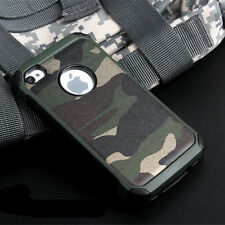 Shockproof Camo Camouflage Army Armor Hybrid Case Cover For iPhone X 7 Plus 6s 6