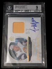 09-10 TYLER MYERS UD SP Authentic Future Watch AUTO PATCH Rookie /100 BGGS 9