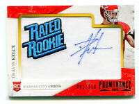 TRAVIS KELCE 2013 Panini Prominence Rated Rookie RC Auto Patch Card AU SP 82/200
