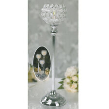Crystal Clear Votive Tealight Candle Holder 50cm Stick Wedding Table Centerpiece