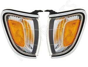 NEW Pair Set Of Left & Right Chrome Park/Marker Lamps Genuine for Toyota Tacoma