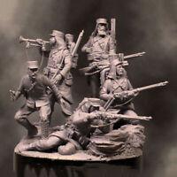 54mm 1/32 Ancient Resin Figures 5 Kit Soldiers Unpainted Unassembled 4538