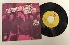 "ULTRA RARE ORIGINAL 7"" THE ROLLING STONES MISS YOU/FAR AWAY EYES ITALY 2ND VERS"