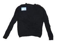 Next Womens Size 8 Cotton Blend Blue Jumper (Regular)