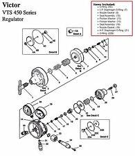 Excess Stock Victor Vts450d Amp Vgt450 Oxygen Regulator Rebuildrepair Parts Kit