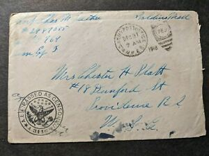 APO 769 FRANCE 1918 Censored WWI AEF Postal History Cover 5th ARMY CORPS