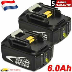 2x Batterie pour Makita BL1860 BL1850 BL1845 LXT 18V 6.0Ah Li-Ion BL1840 BL1830