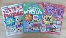 Lot of 3 PENNY PRESS Variety Puzzle Books 2014 NEW #40