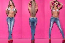 Normalgröße L34 Damen-Jeans mit Strass