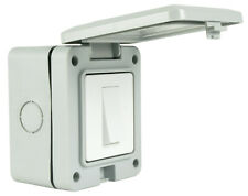 EXTERNAL OUTDOOR MAINS POWER LIGHT SWITCH IP55 230v decking patio shed garage