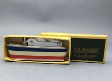SAROME CRUISER VINTAGE PETROL LIGHTER ORIGINAL BOX Mechero Feuerzeug Briquet 点烟器