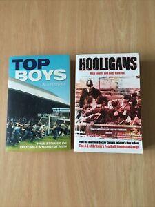 2x Football Hooligan Books Top Boys & Hooligans A-L Cass Pennant Nick Lowles