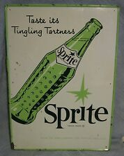 "Vintage Tin Sprite "" Taste its Tingling Tartness"" Sign 9001 M.C.A.-1565  28 X 20"