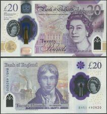 Great Britain United Kingdom 20 Pounds 2020 Polymer/Turner/QueenElizabeth CJ Pre