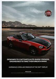 """2018 Fiat 124 Spider """"Designed to Captivate"""" Original Color Ad"""