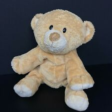 Ty Pluffies Woods Bear Plush Tan Brown Cream Baby Lovey 2010 Stuffed FAST SHIP