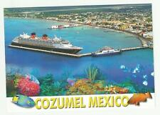 Cruise Ship  pc ... Disney Magic,   aerial view  docked in Cozumel Mexico