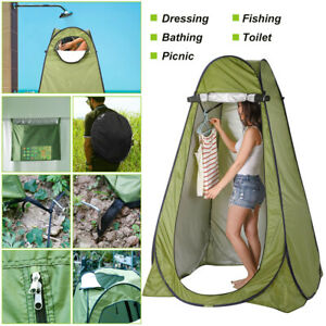 Pop Up Portable Green Utility Tent Camping Shower Toilet Changing Single Room UK