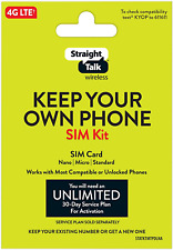 Straight Talk Bring Your Own Phone Universal Sim Card Pack - Verizon, At&T, T-Mo