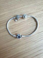Pandora Bracelet with two Genuine Pandora Charms