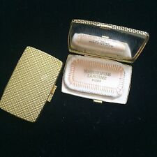 NEW! Vintage GOLD Metal Lancome Maquifinish 03 Compact Powder Unused France 70s