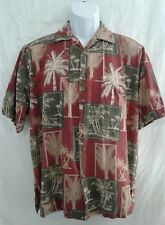 Island Republic 100% Silk Hawaiian Aloha Tropical Men's Camp Shirt Size M