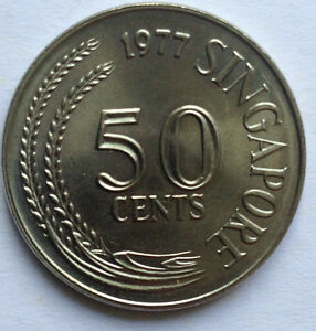 Singapore 1977 1st Series 50 cents coin (BU)