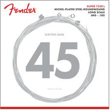 Fender 7250 Bass Strings, Nickel Plated Steel, Long Scale, 7250M .045-.105 Gauge