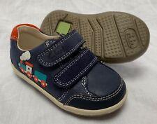 BNIB Clarks Boys Softly Tom Navy Leather First Shoes E/F/G Fitting