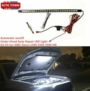 Automatic on/off -Under Hood Repair LED Light Kit Fit GMC Sierra 1500 2500 3500