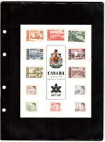 Canada 1967 Centennial Regular issue Postage stamps