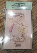 Image Tree Honey Girl In School Dress Ek Success Wooden Rubber Stamp