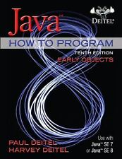 Java How To Program (Early Objects) 10th International Edition