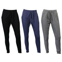 Women's Jogger Track Pants Slim Cuff w Zipped Pockets Ladies Trackies Basic