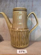 Vintage Sadler Mustard / Green Coffee Pot 1970's Retro and Glazed Ceramic