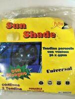2 Petits Rideaux Parasol Arrière Voiture Chat Noir 36x44 CM Soleil Miroir Auto