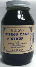 Uncle Johns Ribbon Cane Syrup 30 FL Oz  Glass Jar weight 2 Lb