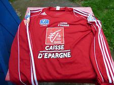 maillot de foot 90eme coupe de France Adidas rouge caisse d'épargn  XL 2006 2007