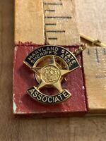 Maryland  State Sheriffs Association Tie Tac Lapel Pin Hat Pin