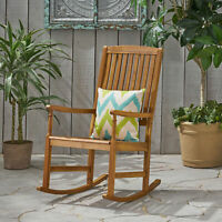 Myrna Outdoor Acacia Wood Rocking Chair