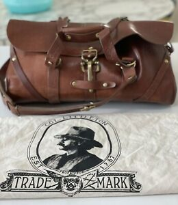 Colonel Littleton Leather Duffle Carry-on, No. 1 Grip Bag. Numbered # 16