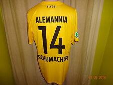 """Alemannia Aachen Nike Matchworn Trikot 2012/13 """"Geller"""" + Nr.14 Schumacher Gr.L"""