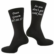Mens Personalised Custom Vinyl Printed Groom Wedding & Civil Partnership Socks
