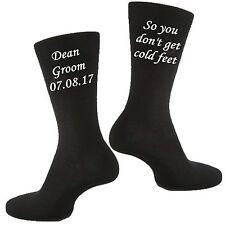 Mens Personalised Custom Vinyl Printed Groom Wedding & Civil Partnership Socks