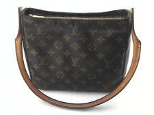 LOUIS VUITTON Purse Tote Looping Handbag Shoulder Bag Brown with LV Logo $1600