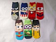 Mens Trainer Ankle Socks Marvel Dc Superhero Avengers Size UK 5-9 Justice League