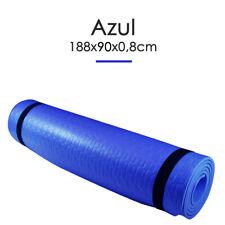 Esterilla Yoga Espeso Antideslizante Anchura 90cm Color Azul Deporte Fitness