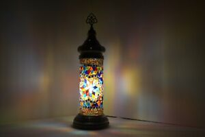 TURKISH MOROCCAN Style MOSAIC  Table Lamp , Bedside Lamp Tower