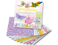 50 Sheets Square Springtime Print Origami Paper - 15cm | Origami Paper Packs