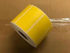 "4 Rolls 4000 Thermal Labels Yellow 2.25 x 1.25  ZEBRA 1"" Core Direct FBA Label"